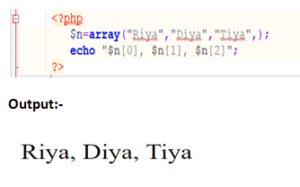 Indexed Array Example