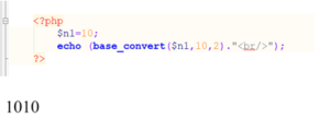PHP base convert() function