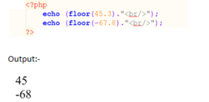 php Floor() Function