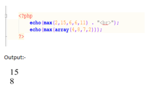 PHP MAX() function