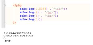 php log() function