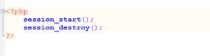 Session Destroy in PHP state management