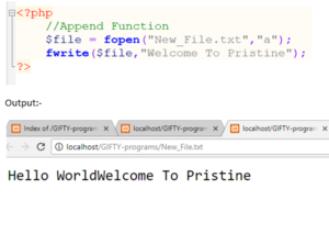 PHP Append Function