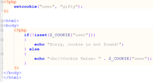 Create PHP cookie