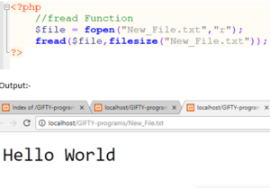 PHP fread() Function