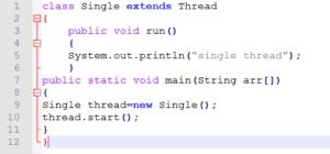 Thread using extend keyword