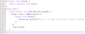 Simple program to understand anonymous inner classes in java