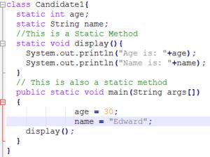 Static Program