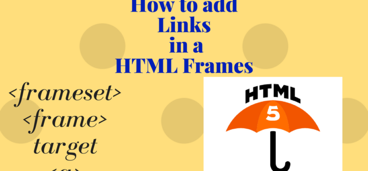 How to add Links in a HTML Frames