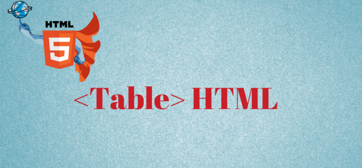 How to create table in HTML