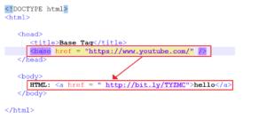 HTML Base TAG