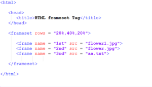 rows attribute in Frame HTML