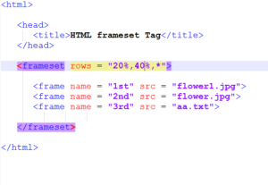 """*"" Feature in HTML Frames"
