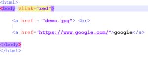 HTML vlink