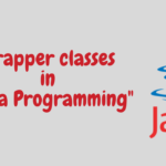 "Wrapper classes in ""Java Programming"""